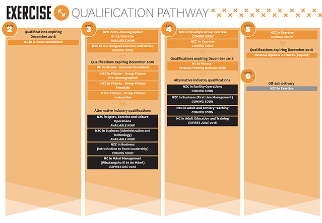 Check out your exercise qualification pathway